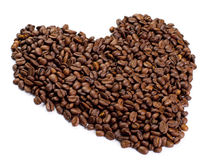 Heart made of coffee Royalty Free Stock Photo