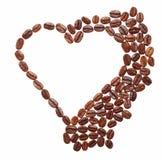 Heart made of coffee Stock Photo