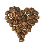 Heart made of coffee beans Stock Image