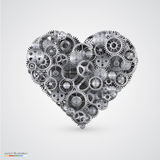 Heart made of cogwheel. Royalty Free Stock Photography