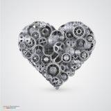 Heart made of cogwheel. Royalty Free Stock Photography