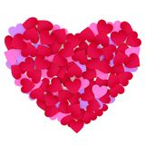 Heart made of color paper hearts. Royalty Free Stock Photo