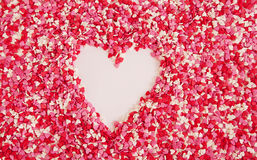 Heart made from colored sprinkles Stock Image