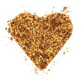 Heart made of cookie crumbs royalty free stock photos