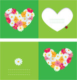 Heart is made of daisies Stock Photography