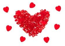 Heart made of decorative hearts Stock Photo