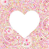 Heart made of doodling lines Royalty Free Stock Photos