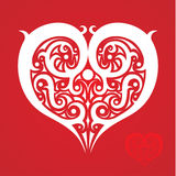 Heart made of ethnic patterns. Vector Image. All elements on layers Stock Photos