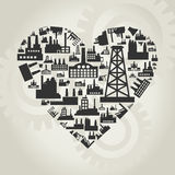 Industry heart2 Stock Images