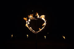 Heart made of fire Stock Photography