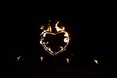 Heart made of fire Royalty Free Stock Photography
