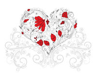 Heart made of floral Stock Image