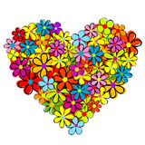 Heart made of flowers Stock Photo