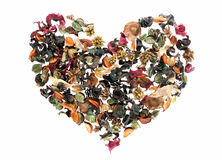 Heart made of flowers Royalty Free Stock Photos
