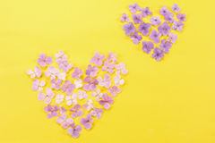 Heart made with flowers Stock Photography