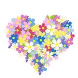 Heart made of flowers stock illustration