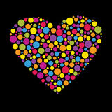 Heart Made From Color Circles Royalty Free Stock Image