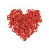 Heart made of gears and cogs Royalty Free Stock Image