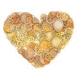 Heart made gears Stock Photography