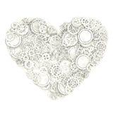 Heart made gears Stock Photo