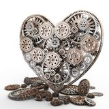 Heart made of gears Royalty Free Stock Photography