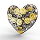 Heart made of gears Stock Photo