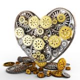 Heart made of gears Stock Image