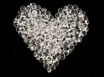 Heart made by glass beads Royalty Free Stock Photos