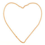 Heart made with gold chain Stock Photo