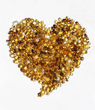 Heart made of golden stones Royalty Free Stock Image