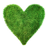 Heart made of grass Stock Photos