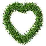 Heart made from green leave. Beautiful graphic made of green leaves on gradient background Stock Photos