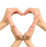 Heart made from hands Royalty Free Stock Image