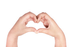 Heart made with hands Stock Images