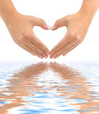 Heart made of hands Royalty Free Stock Photography