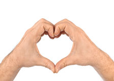 Heart made of hands Stock Image