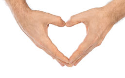 Heart made of hands Stock Photos