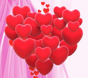 Heart Made With Hearts Means Wedding Party Or Royalty Free Stock Photo