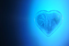 Heart made of ice is blue Royalty Free Stock Images