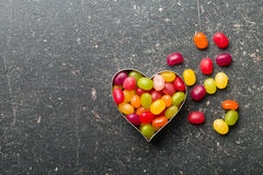 Heart made from jelly beans Royalty Free Stock Image