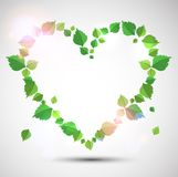 Heart made from leaves Royalty Free Stock Photos