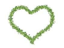 Heart made of leaves Stock Photos