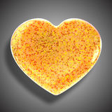 Heart made from leaves,. Beautiful graphic made of green leaves on gradient background Royalty Free Stock Photo