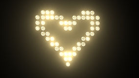 Heart made of light bulbs stock footage