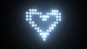 Heart made of light bulbs stock video footage
