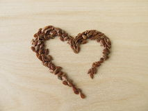 Heart made of linseed Royalty Free Stock Photography