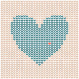 Heart Made Of Little Hearts Stock Image