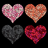 Heart made in mosaic style Stock Image
