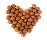 Heart made of nuts Royalty Free Stock Images