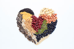 Heart made of  nuts Royalty Free Stock Photo